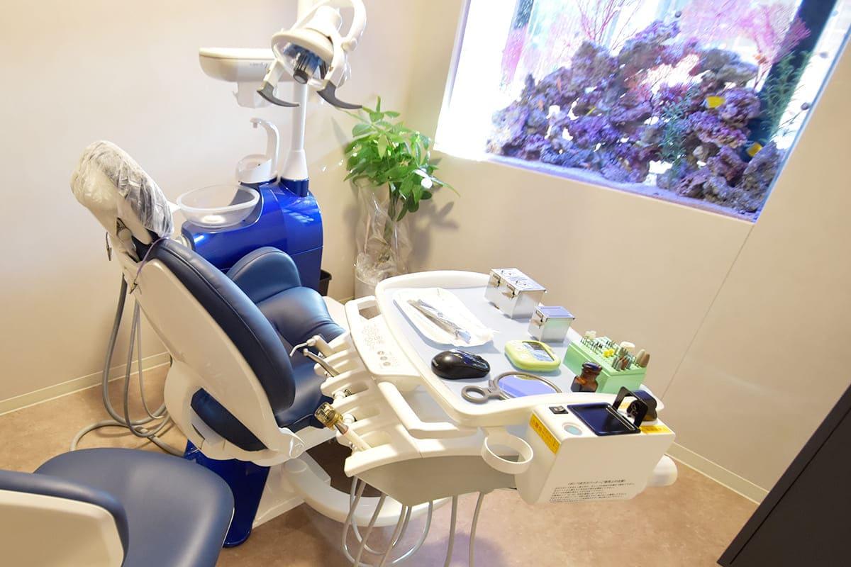 世田谷区の歯医者 尾山台駅前歯医者 アクアリウムやアロマなどリラックスできる癒やしの空間