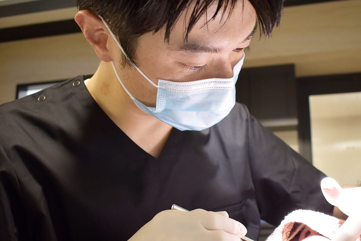 世田谷区の歯医者 尾山台駅前歯医者 なるべく痛みを感じさせない丁寧な治療